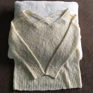 Tops - Cream knit long sleeve